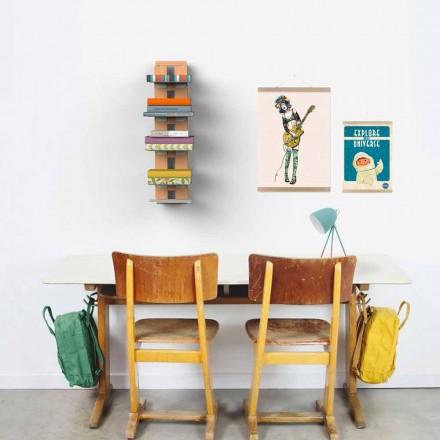 Libreria design moderno da parete Zia Ortensia