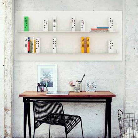 Libreria design da parete Skyline 186x86 Mabele