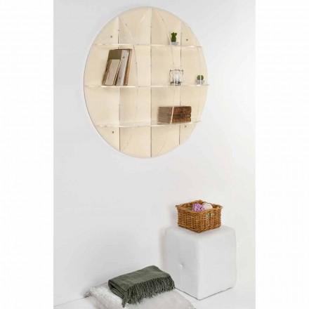 Libreria da parete beige design moderno Gio, made in Italy