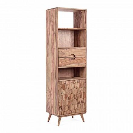 Libreria da Terra con Struttura in Legno Design Vintage Homemotion - Ventador