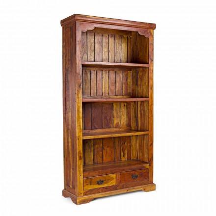 Libreria da Terra Design Classico in Legno di Acacia Massello Homemotion - Umami