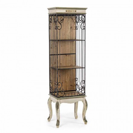 Libreria da Terra Design Classico in Legno e Acciaio Homemotion - Verena