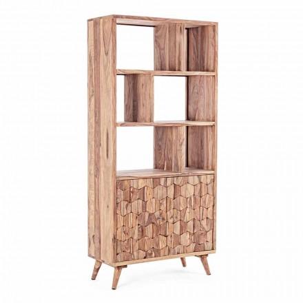 Libreria da Terra Design Vintage in Legno e Acciaio Homemotion - Ventador