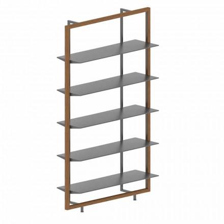 Libreria da Terra in Metallo, Alluminio e Legno Made in Italy - Bonaldo Aliante
