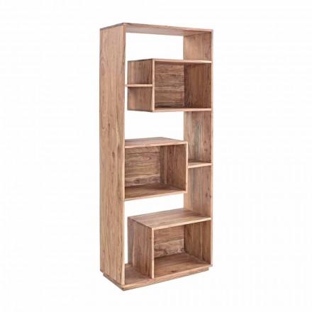 Libreria da Terra Moderna con Struttura in Legno di Acacia Homemotion - Genza