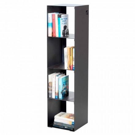 Libreria a Terra Moderna in Ferro Nero,Rosso,Bianco,Grigio Made in Italy – Cauro