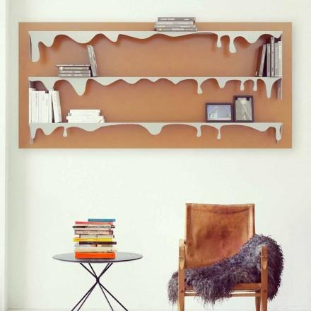 Libreria moderna da parete Kolata 130x70 (3 Ripiani) Mabele
