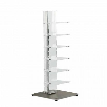 Libreria design moderno in metacrilato,L35xP35xH100 cm,Jesse