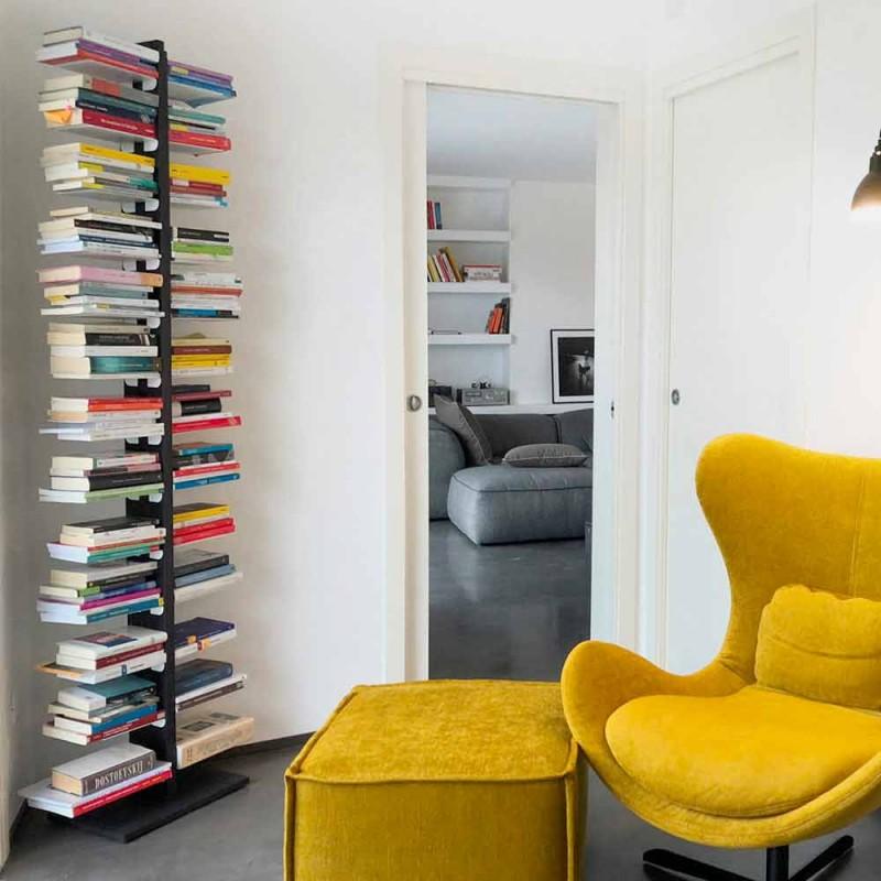 Libreria fissata a parete da terra Zia Bice e mensole fatta in Italia