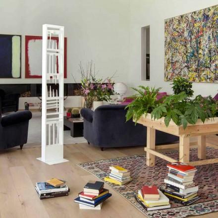 Libreria Moderna da Terra con Scaffali in Metallo Bianco Made in Italy – Bolivia