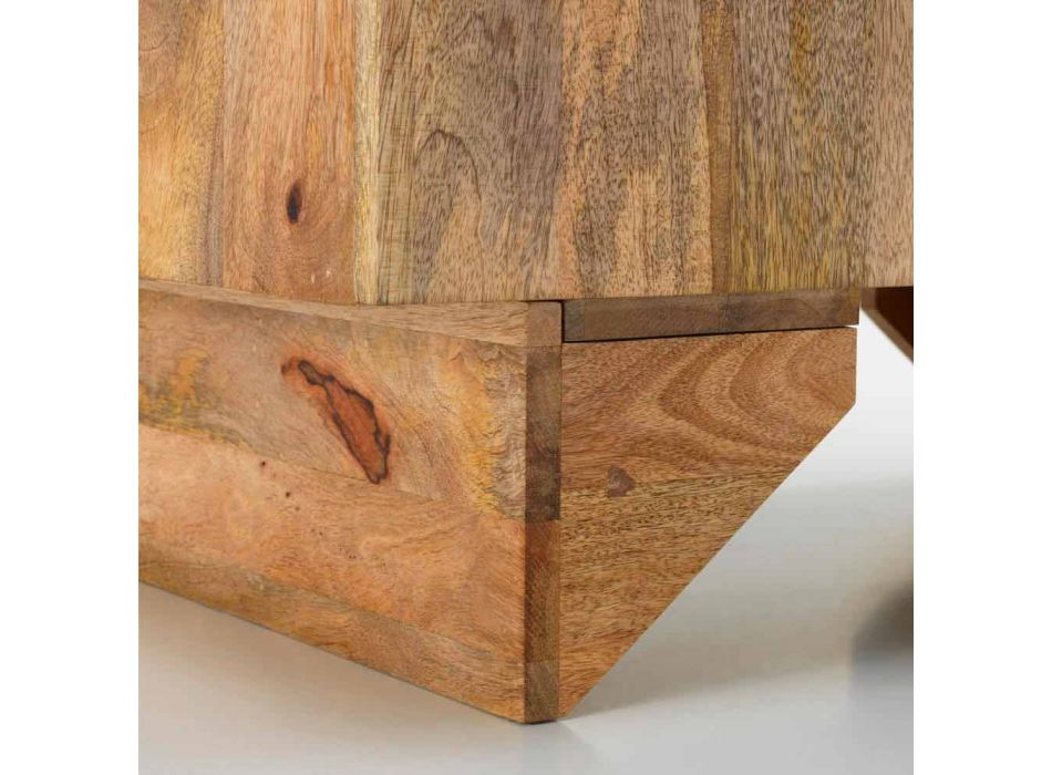 Madia etnica moderna in legno massello di mango, Cecina