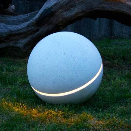 Marmo illuminante a Led dalla forma di sfera Sphera con 1 fenditura