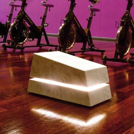Marmo illuminante completo di diffusore sonoro Minimal Sound