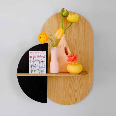 Mensola da Parete Design Moderno con 3 Pannelli in Multistrato Modulari - Elena