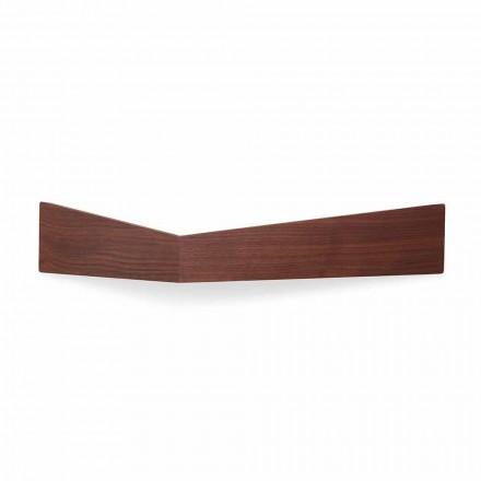 Mensola da Parete di Design in Multistrato e Metallo con Appendiabiti - Berema