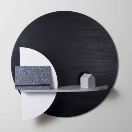 Mensola Design in Multistrato Verniciato Composta da Pannelli Modulari - Livia