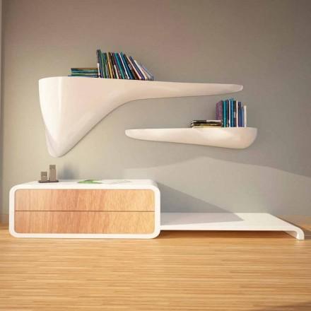 Mensola di design moderno prodotta in Italia, Sizzano