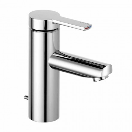 Miscelatore Monocomando per Lavabo da Bagno in Ottone, Design Pregiato - Zanio