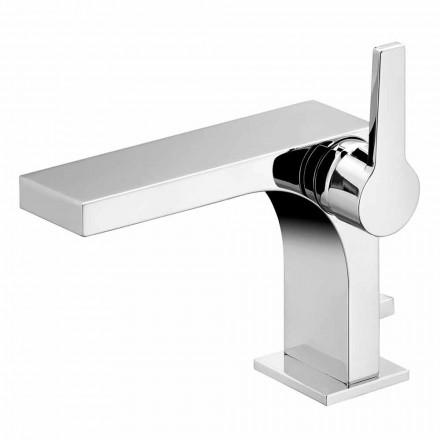 Miscelatore Monocomando per Lavabo con Scarico, in Ottone, di Design- Etto