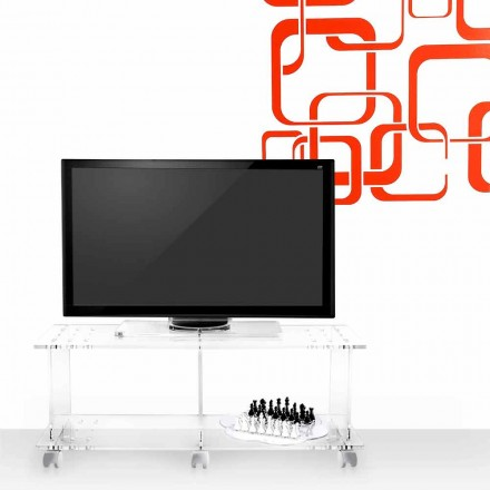 Mobile porta tv design moderno in plexiglass trasparente Mago