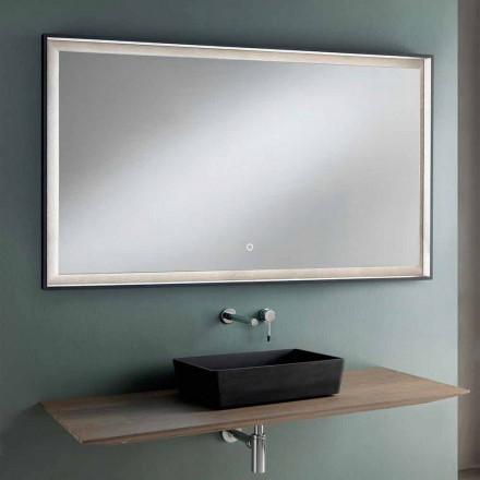 Mobili d'Arredo Bagno Sospesi Design Piano in Legno, Lavabo e Specchio - Tonal