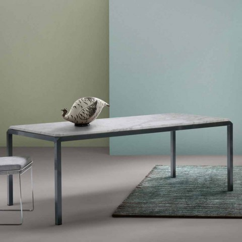 Tavolo In Marmo Bianco.My Home Bebop Tavolo Di Design Marmo Bianco H74xl210cm Made In Italy