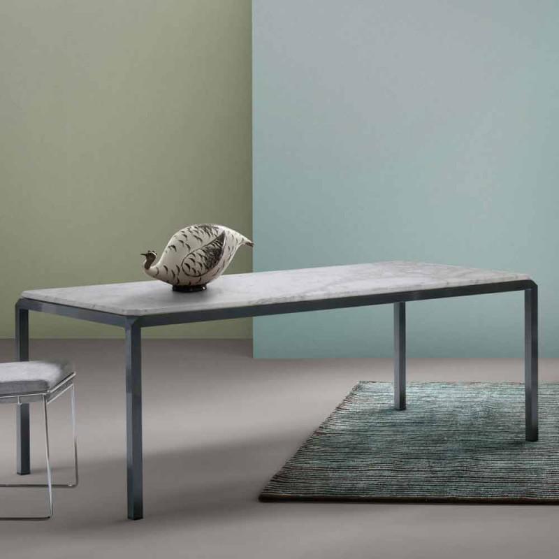 Tavolo in marmo di moderno design my home bebop realizzato for Tavolo marmo design