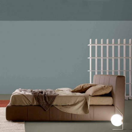 Letto matrimoniale My Home Bend imbottito in ecopelle made in Italy