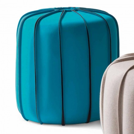 Pouf in tessuto di design moderno My Home Marrakech fatto in Italia