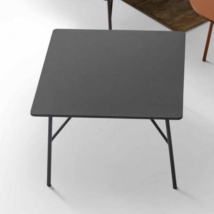 Tavolino in MDF grigio antracite di design My Home Mek made in Italy