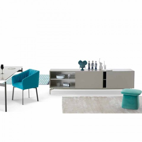 My Home Mirage madia di design in MDF laccato H71xL210cm made in Italy