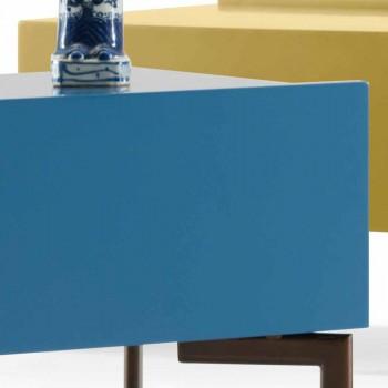 My Home Sally comodino design MDF gambe acciaio H37xL62cm made Italy