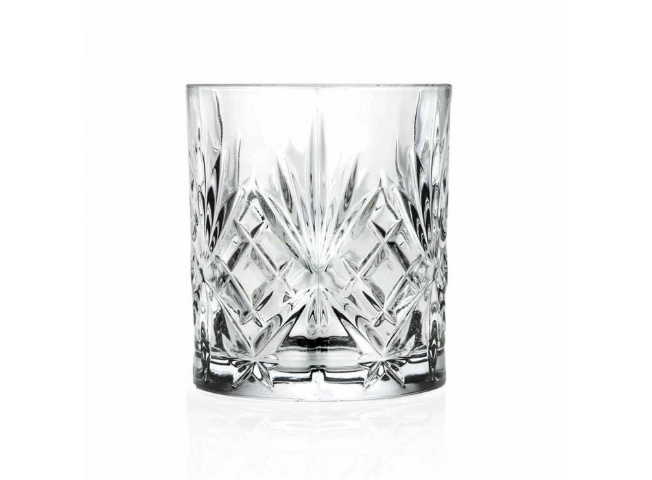 Old Fashioned Bicchieri Tumbler Basso da Cocktail 12 Pezzi Cristallo - Cantabile