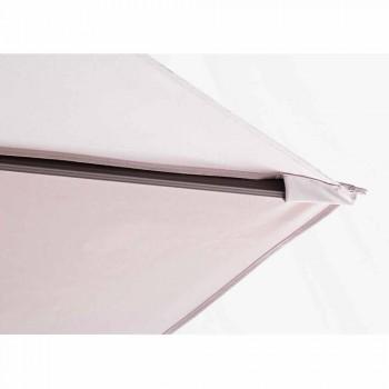 Ombrellone da Esterno 3x4 con Telo Color Sabbia in Poliestere - Flamingo