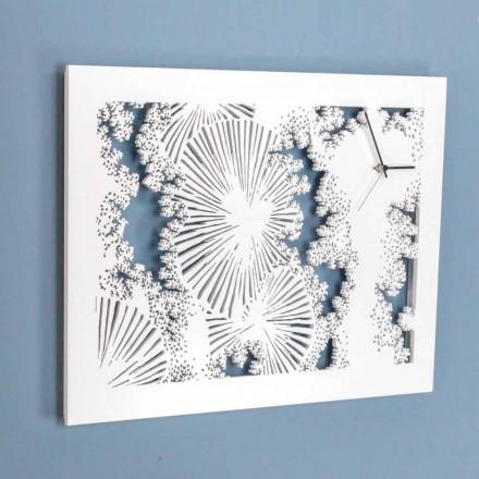 Orologio a Muro Design in Legno Bianco o Tortora Rettangolare - Artificio