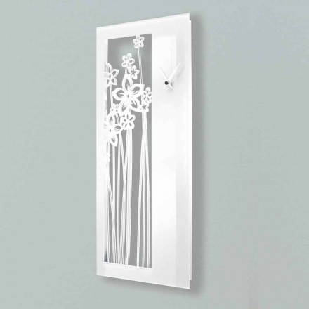 Orologio a Muro Design Rettangolare Moderno in Plexiglass Bianco - Elara