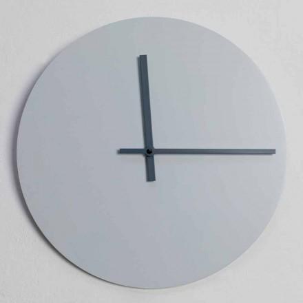 Orologio da Muro Rotondo di Design Moderno Grigio e Blu Made in Italy - Umbriel
