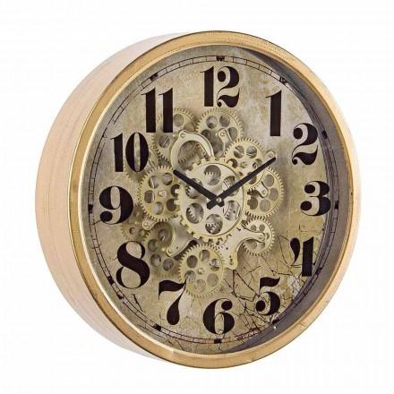 Orologio a Muro Rotondo Diametro 46,5 cm in Acciaio e Vetro Homemotion - Rando