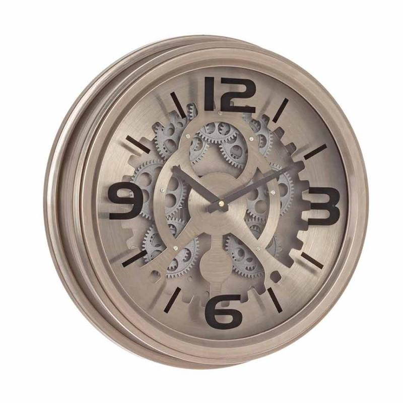 Orologio a Muro Stile Classico in Acciaio e Mdf Homemotion - Greggio