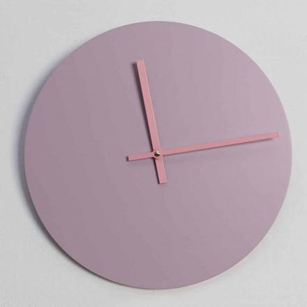 Orologio in Legno Rosa da Parete Rotondo di Design Made in Italy - Imalia
