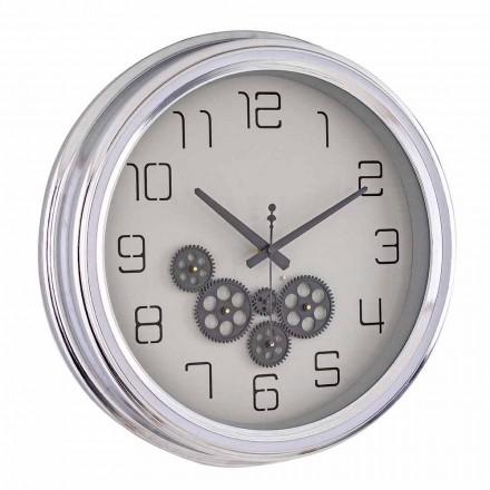 Orologio a Parete Design Vintage con Struttura in Acciaio Homemotion - Gimbo