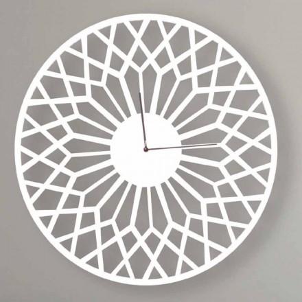 Orologio a Parete Grande e di Design Moderno in Legno Colorato Tondo - Dandalo