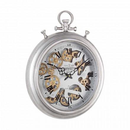 Orologio a Parete in Acciaio e Vetro Design Vintage Homemotion - Gringo