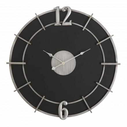 Orologio a Parete Rotondo di Design Moderno in Ferro e MDF - Hope