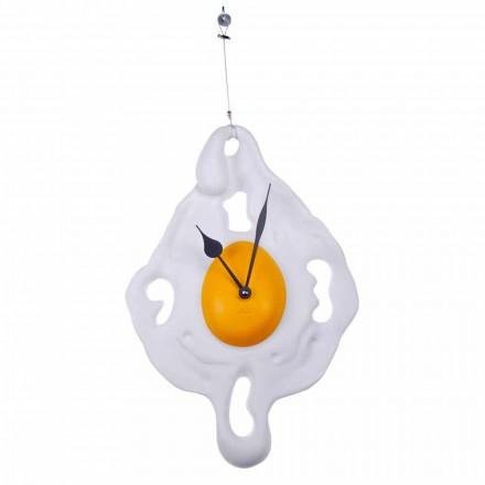 Orologio da Muro Design a Uovo in Resina Dipinta a Mano Made in Italy - Eggo