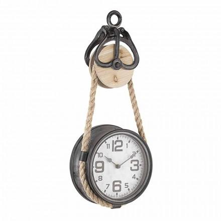 Orologio da Muro di Design Vintage in Acciaio e Vetro Homemotion - Edvige