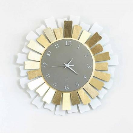 Orologio da Muro Moderno Circolare in Ferro Bicolore Made in Italy – Lussuria