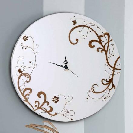 Orologio da Muro Moderno e Rotondo in Legno con Decori di Design - Season