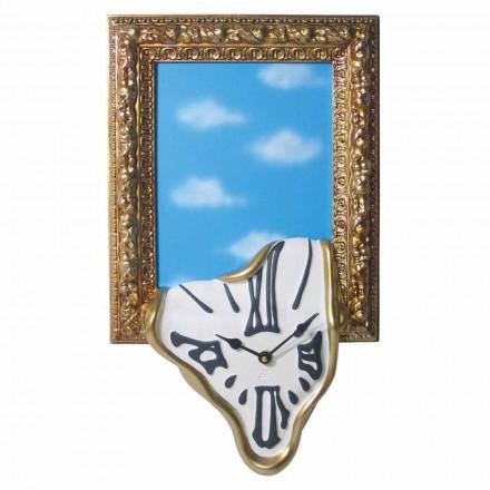 Orologio da Parete con Cornice Portafoto in Resina Made in Italy - Bigno