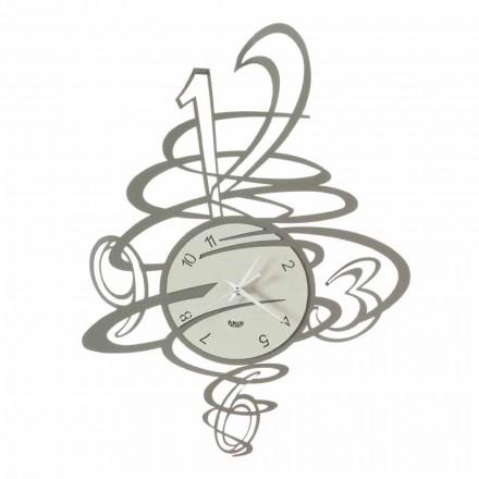 Orologio da Parete Design Elegante e Moderno in Ferro Made in Italy - Mikele